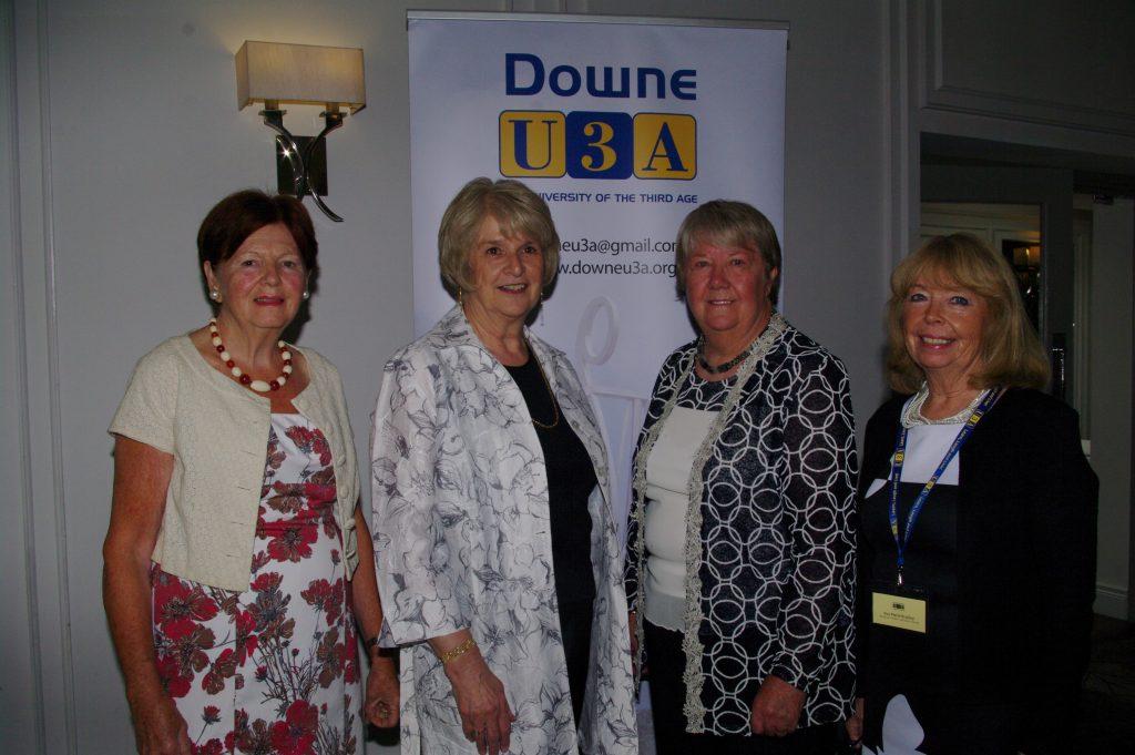 Rose Marie Bradley NI Regional Trustee, Lila Jackson NI Regional Chairperson, Frances Trevor Chairperson and Monica Devlin