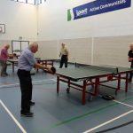 Table tennis in full swing